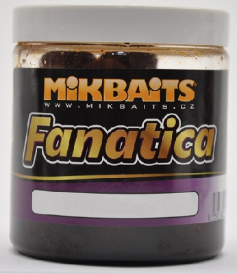 Boilie v dipe MIKBAITS Fanatica Losos & Ráček & Asa