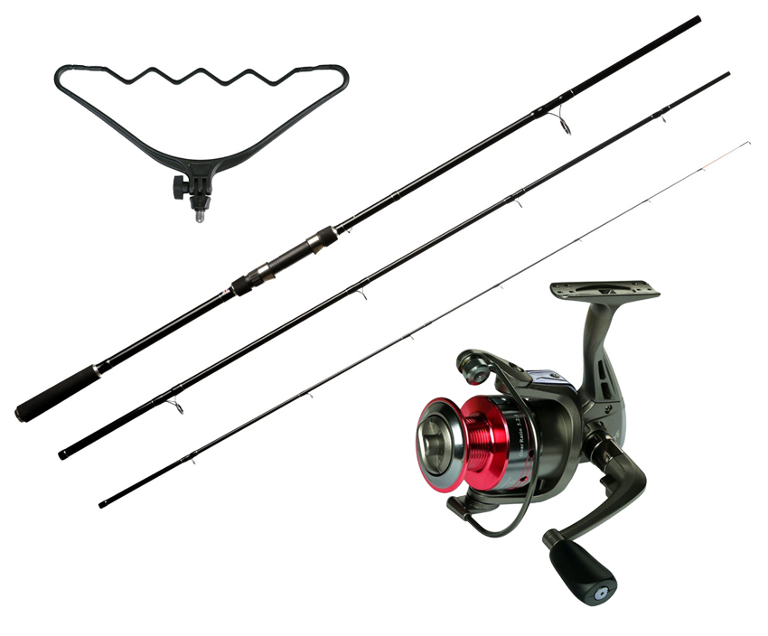 SET = prút GIANTS FISHING CPX Carp Feeder + navijak + hrazda