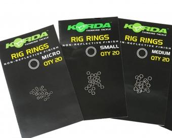 Kovové krúžky KORDA Rig Rings