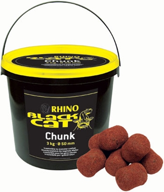 Maxi boilies na sumce Black Cat Chunks