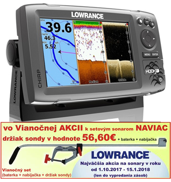 Sonar LOWRANCE Hook-7x Chirp/DSI sonar