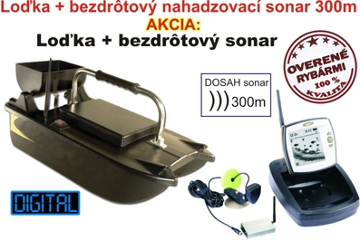 SET = zavážacia loďka a bezdrôtový sonar do 300m