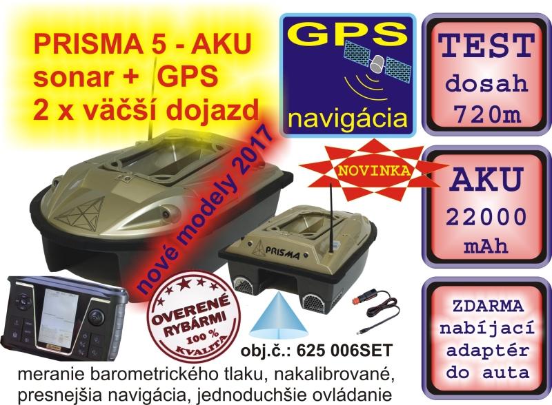 860029124 Zavážacia loďka PRISMA 5 + sonar + GPS + 22000mAh aku   OKfish.sk ...