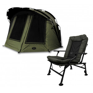 SET = Bivak DELPHIN B-3 Econo + kreslo PROLOGIC Cruzade Comfort Chair