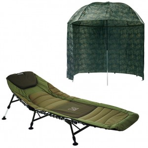 SET = lehátko MIVARDI Premium + dáždnik