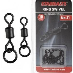 Obratlíky StarBAITS Ring Swivel s krúžkom