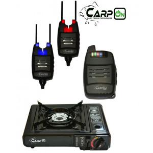SET = sada 2 signalizátorov CARPON DV s príposluchom + prenosný plynový varič