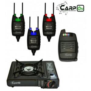 SET = sada 3 signalizátorov CARPON DV s príposluchom + prenosný plynový varič
