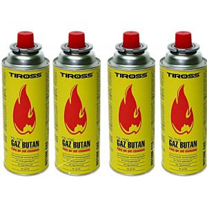 SET = 4x plynová kartuša TIROSS