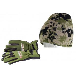 SET = Neoprénové rukavice ROBINSON Tech Wear N02 + čiapka ROBINSON