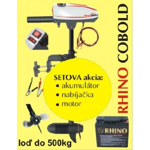 SET = elektromotor RHINO Cobold + akumulátor + nabíjačka