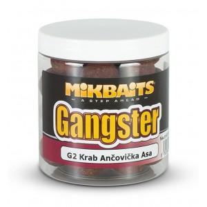 Vyvážené boilie MIKBAITS Gangster Balance G2 Krab & Ančovička & Asa