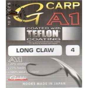 Háčiky Gamakatsu A1 G-Carp Long Claw PTFE