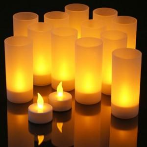Sviečka s plameňom