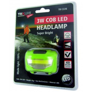 Čelovka TRIXLINE 3W Cob Led Headlamp TR C226