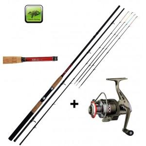 SET = prút Giants Fishing Classic Feeder TR + navijak + vlasec