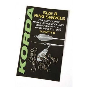 Obratlík s krúžkom KORDA Flexi Ring Swivels