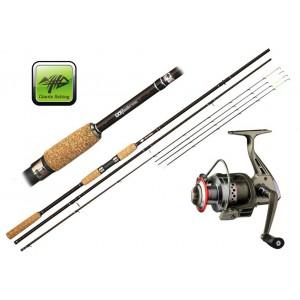 SET = prút Giants Fishing LXR Feeder + navijak + signalizátor