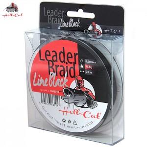 Nadväzcová šnúra HELL-CAT Leader Braid Line Black