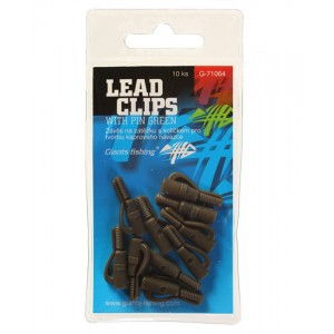 Záves GIANTS FISHING Lead Clips with Pin Green