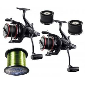 SET = 2x navijak GIANTS FISHNG Gaube Reel FS 9000 + cievky 8000 + vlasec