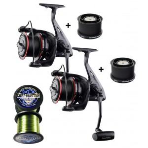 SET = 2x navijak GIANTS FISHING Gaube Reel FD 9000 + 2x cievka 8000 + vlasec Carp Master