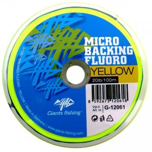 Šnúra GIANTS FISHING Micro Backing Fluoro Yellow