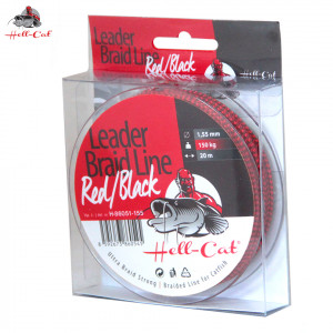 Náväzcová šnúra HELL-CAT Leader Braid Line Red/ Black