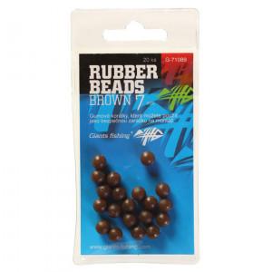Nárazové guličky GIANTS FISHING Rubber Beads Transparent Brown