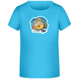 Detské tričko GIANTS FISHING tyrkysové s kapríkom