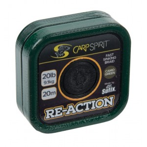 Šnúra CARP SPIRIT Re-Action Braid Camo Green