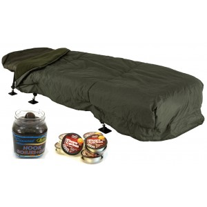 917cc8565 SET = Spacák JRC Defender Sleeping Bag & Cover Combo + boilie + fluorocarbon