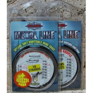 Oceľové lanko TECHNIPECHE Metal Line Micro Wires