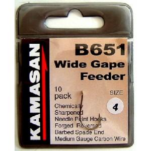 Háčiky KAMASAN Wide Gape Feeder B651