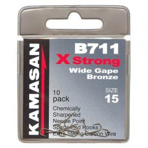 Háčiky KAMASAN Xstrong Wide Gape Bronze B711