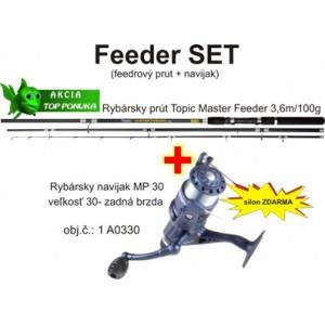 SET = prút ZEBCO Topic Master Feeder + navijak+ vlasec