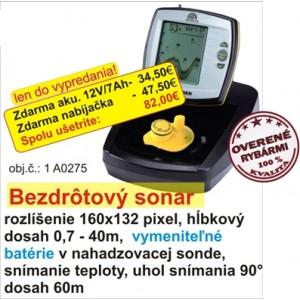 Bezdrotový sonar + akumulátor + nabíjačka