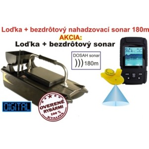 Lacná zavážacia loďka a bezdrôtový sonar do 180m
