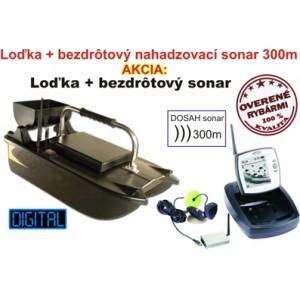 Lacná zavážacia loďka a bezdrôtový sonar do 300m
