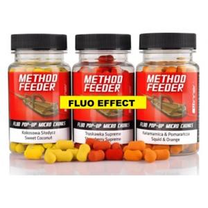 Návnada Tandem Baits Method Feeder Fluo Pop Up Micro Chunks