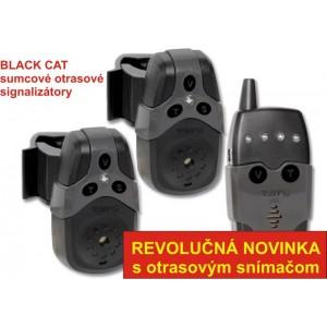 SET 2 signalizátorov BLACK CAT Bite Alarm s príposluchom