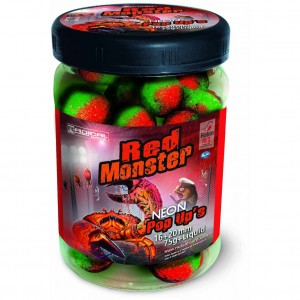 Boilie QUANTUM Radical Red Monster Neon Pop Up