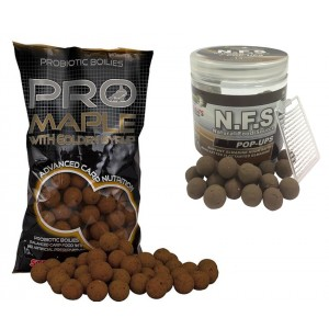SET = boilie STARBAITS Probiotic Maple + boilie Concept N.F.S Pop Up