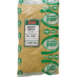 Krmivo SENSAS Biscuit Fine Sladké sušienky, hrubé