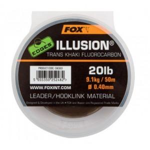Šokový vlasec FOX Illusion Leader Trans Khak