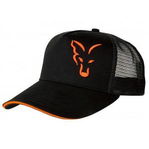 Šiltovka FOX Black/ Orange Trucker Cap