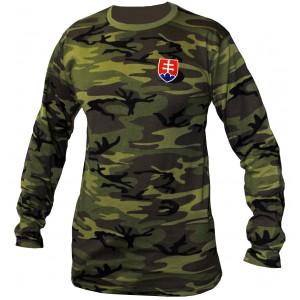 Tričko LS Military Camo