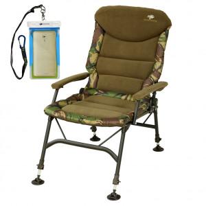 SET = Kreslo GIANTS FISHING RWX Large Camo Chair + vodotesné puzdro na telefón